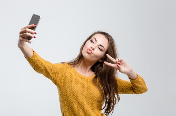 Immagine di un selfie di una ragazza